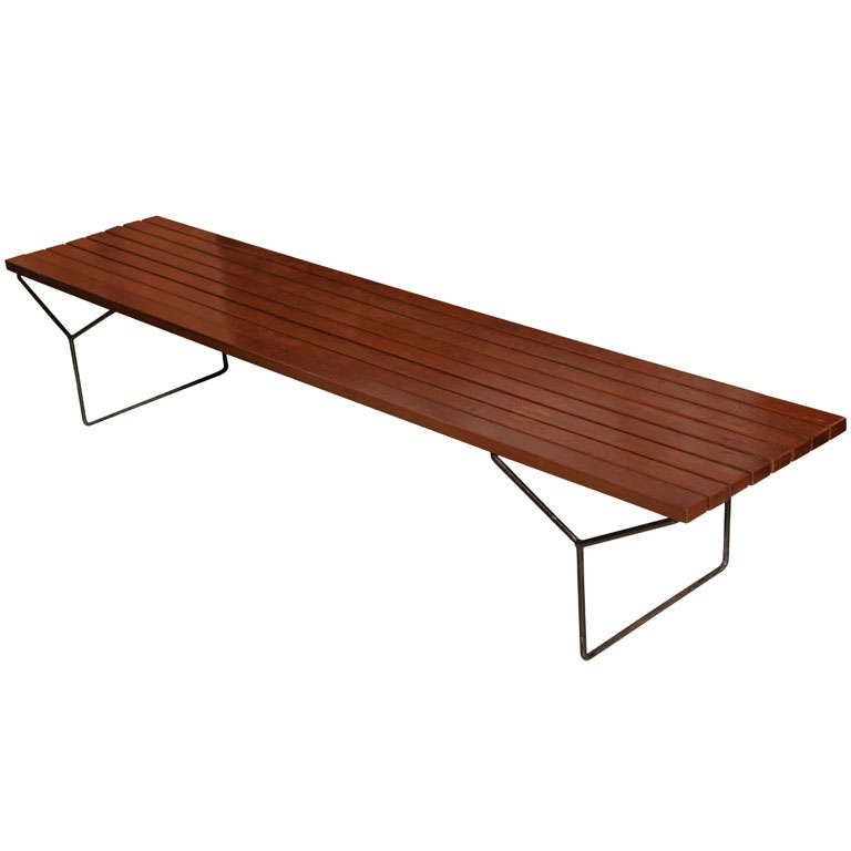 Early harry bertoia bench at 1stdibs - Bertoia coffee table ...