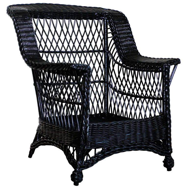 American wicker bar harbor chair at 1stdibs for American rattan furniture manufacturer
