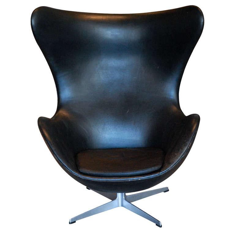 arne jacobsen egg chair denmark 1960 at 1stdibs. Black Bedroom Furniture Sets. Home Design Ideas