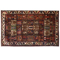 Persian Garden Design Bakhtiari Carpet in Handspun Wool and Vegetable Dyes