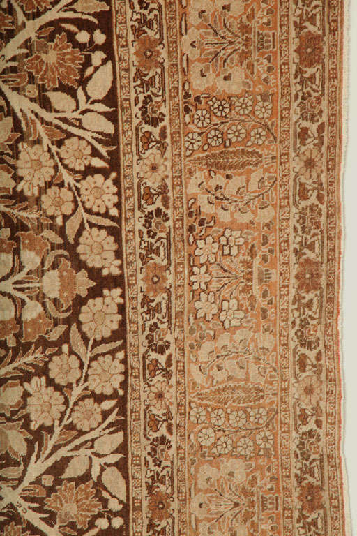 19th Century 1870 Persian Haji Jalili Tabriz Carpet with Tree of Life Design For Sale