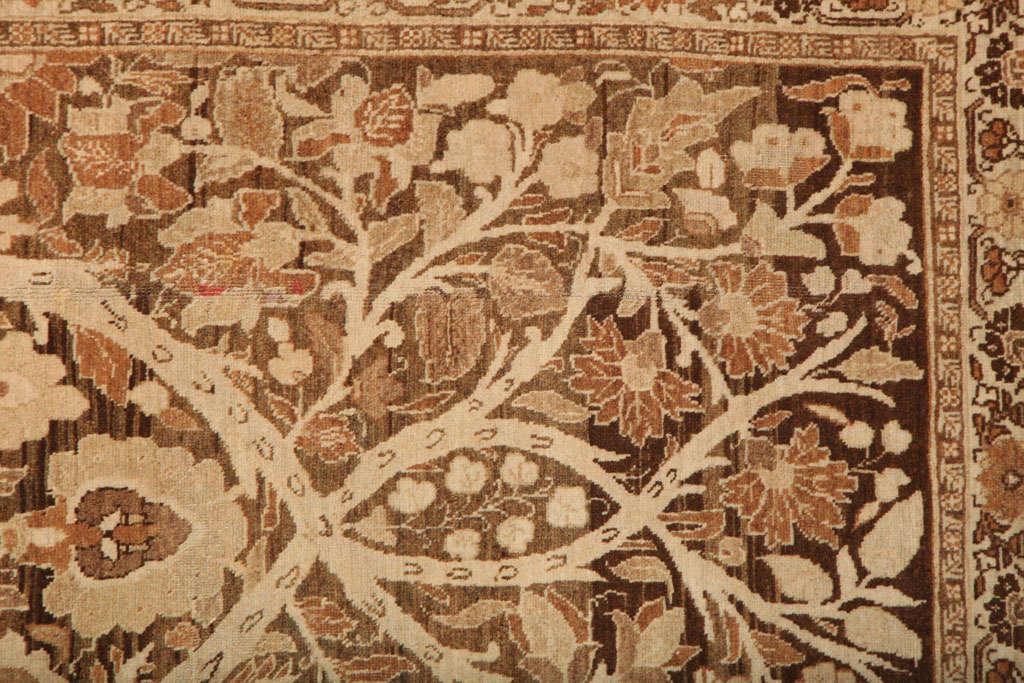 Wool 1870 Persian Haji Jalili Tabriz Carpet with Tree of Life Design For Sale