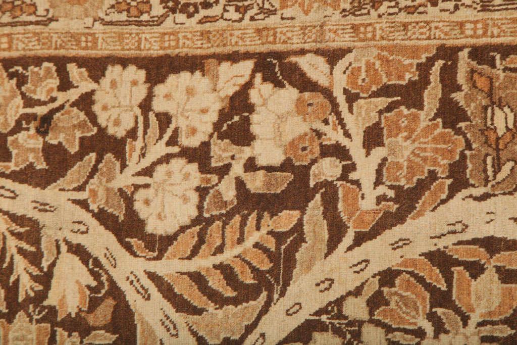 1870 Persian Haji Jalili Tabriz Carpet with Tree of Life Design For Sale 2