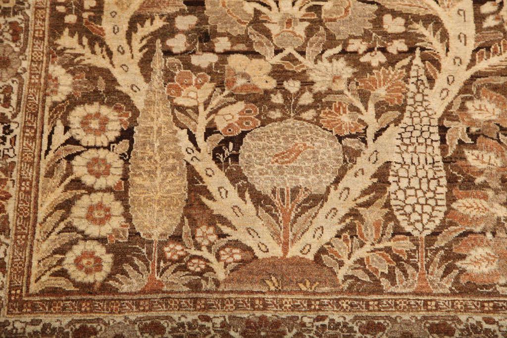 1870 Persian Haji Jalili Tabriz Carpet with Tree of Life Design For Sale 3