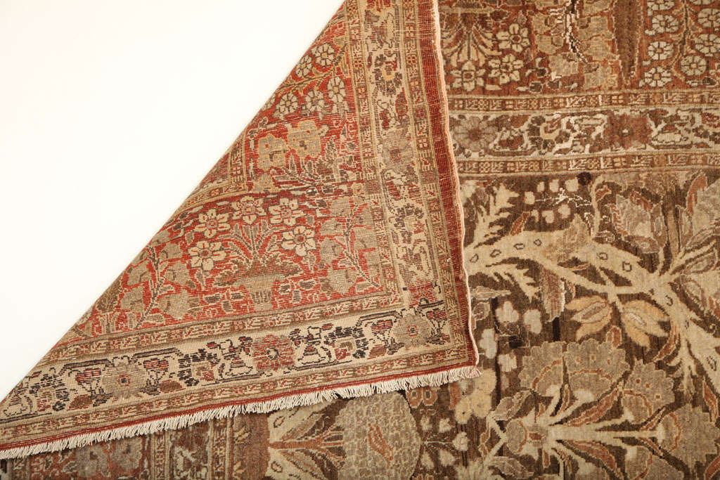 1870 Persian Haji Jalili Tabriz Carpet with Tree of Life Design For Sale 4