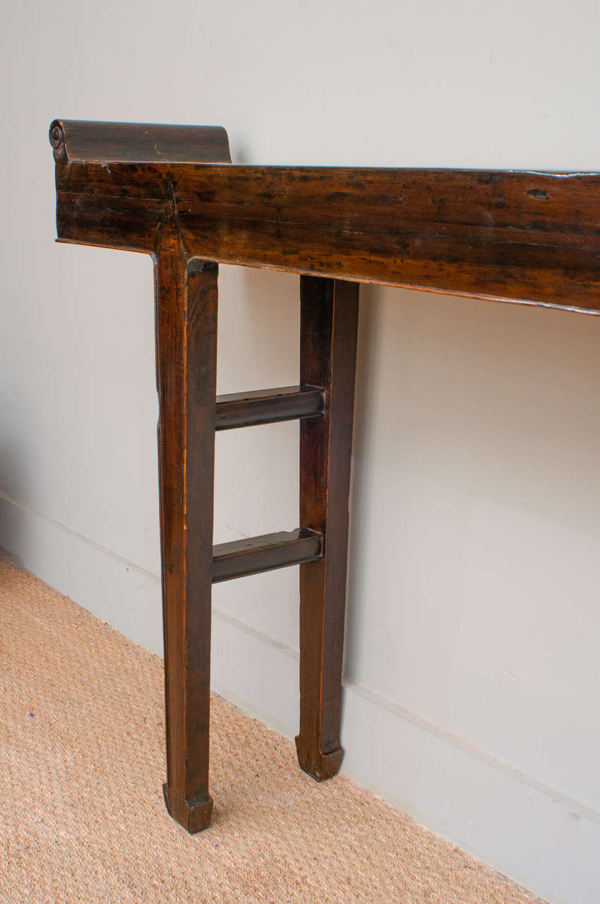 18th century long and narrow chinese console table at 1stdibs for Long narrow console