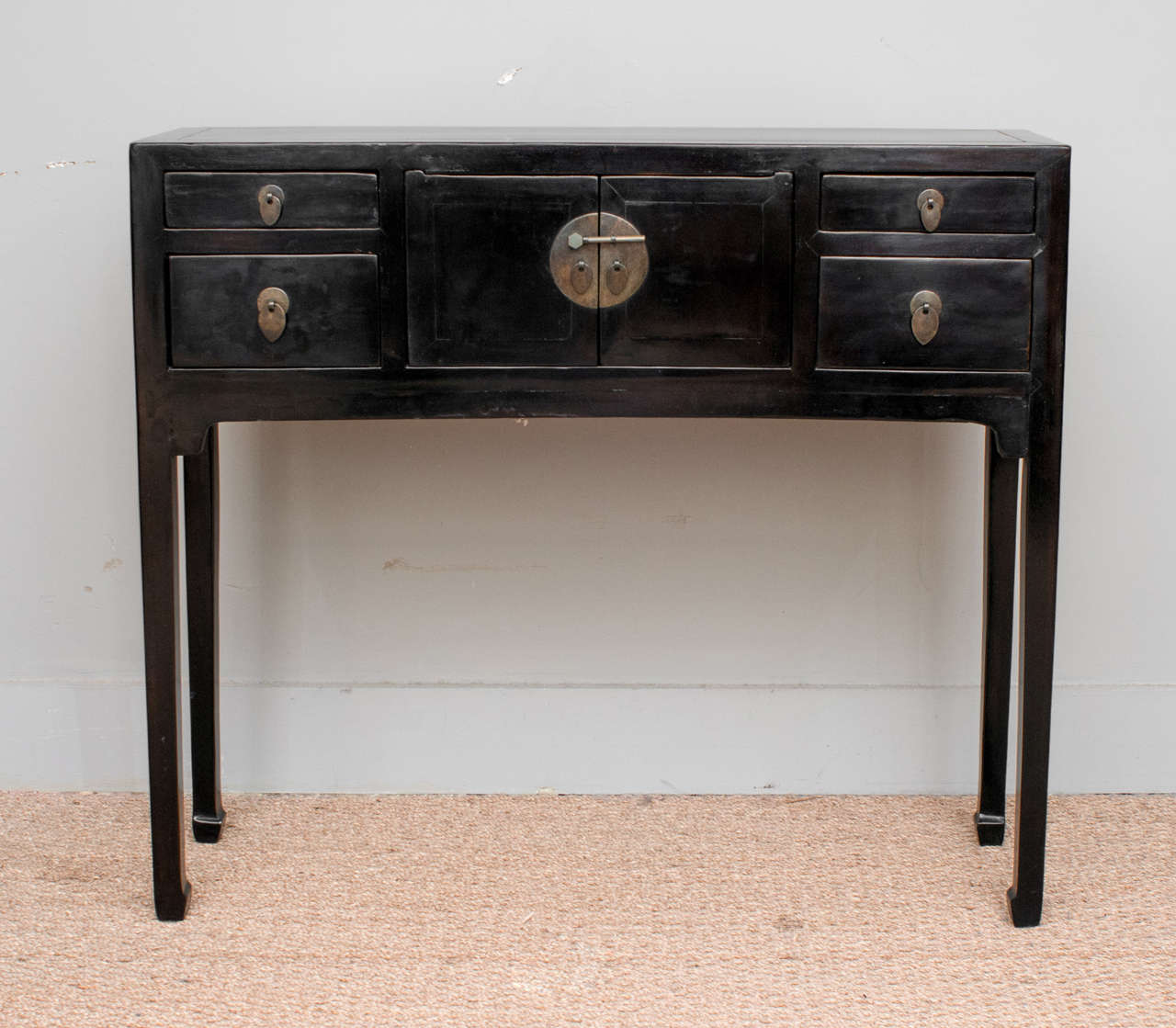 Metal Foyer Cabinet : Petite foyer table cabinet at stdibs