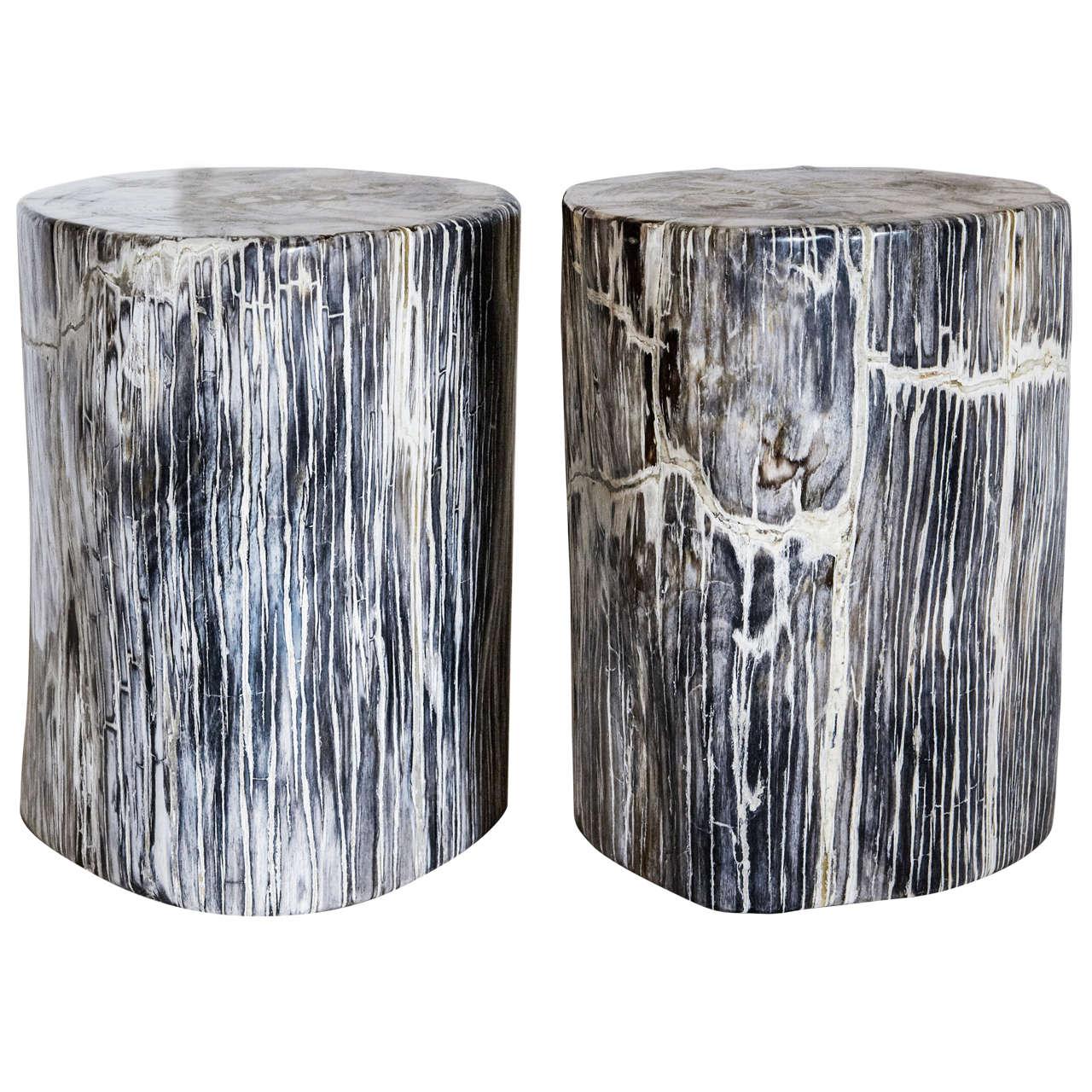 petrified wood stool polished 1stdibs petrified wood stools for sale at 1stdibs