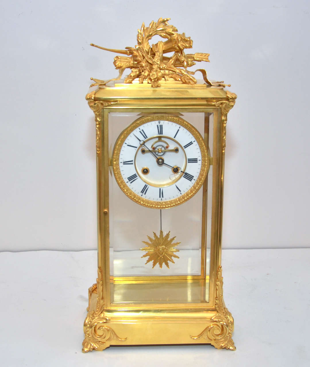 Unusual Crystal Clock For Sale At 1stdibs