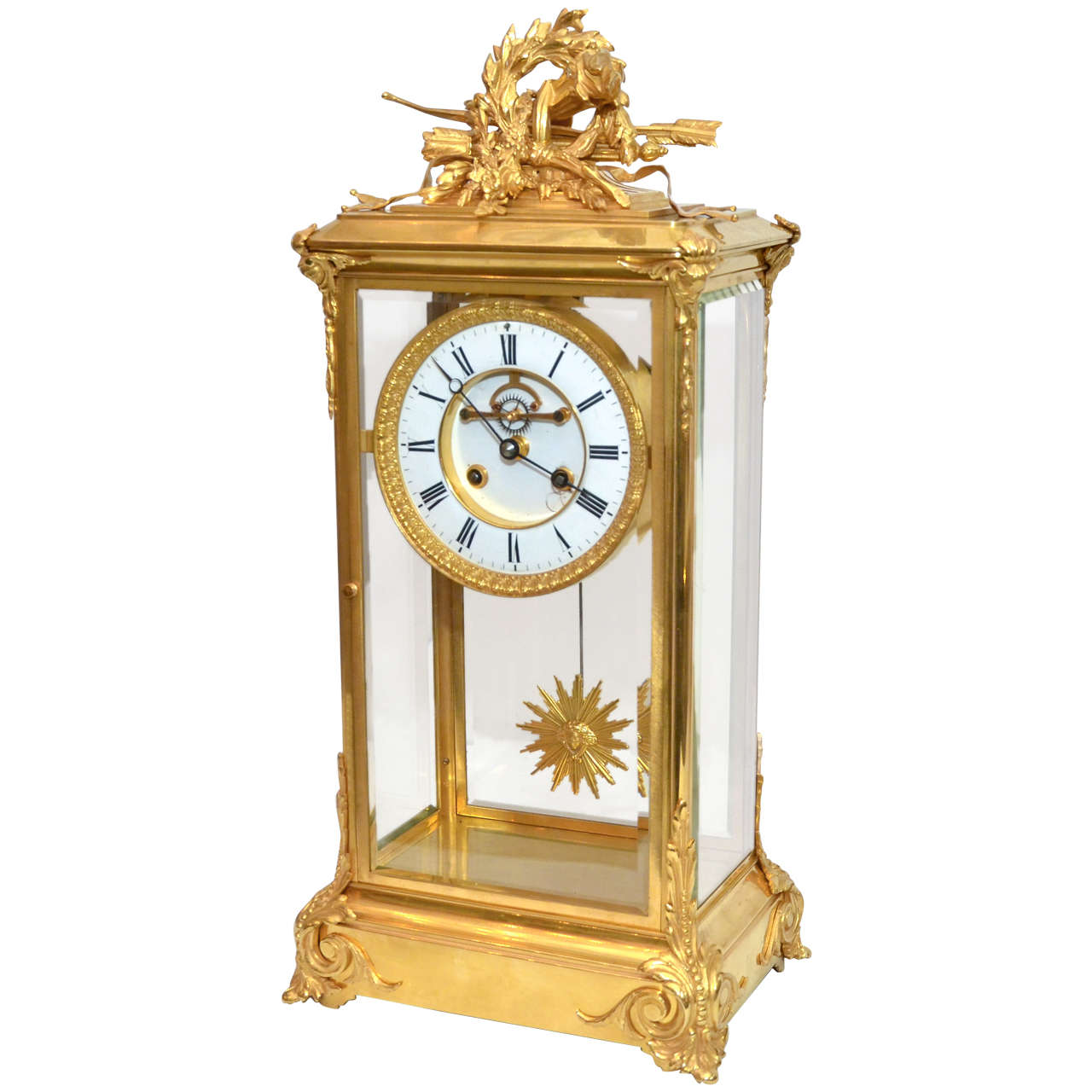 Unusual crystal clock for sale at 1stdibs Unusual clocks for sale