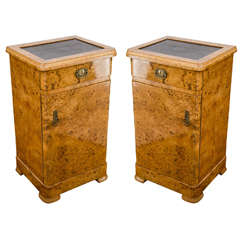 Art Nouveau Birch Nightstands