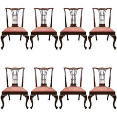 Set of Eight Chippendale Dining Chairs