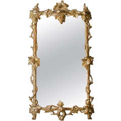 French 19th Century Grapevine Motif Mirror