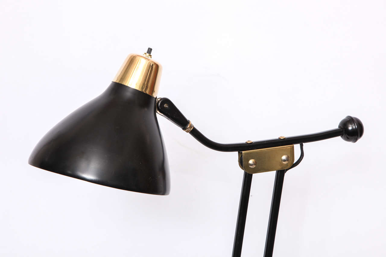 1950s Articulated Table Lamp In Excellent Condition For Sale In New York, NY