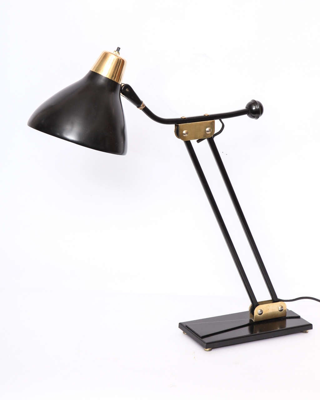 Metal 1950s Articulated Table Lamp For Sale