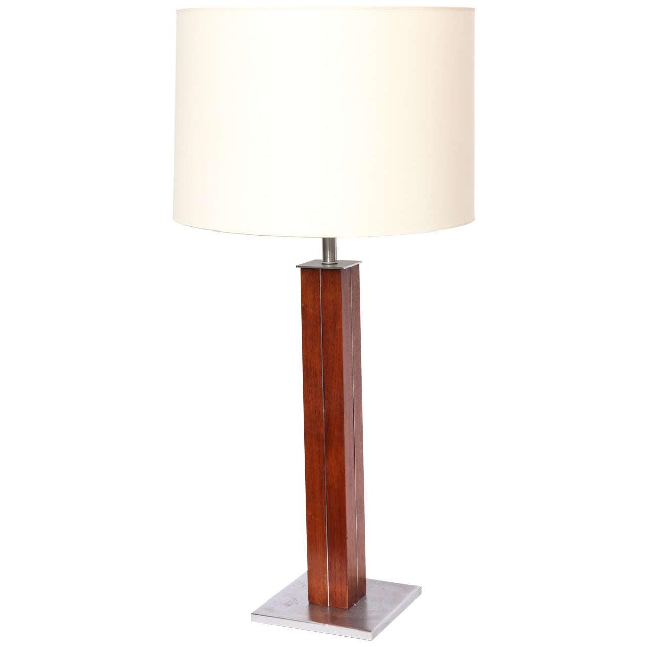 1950s Modernist Table Lamp Signed Nessen