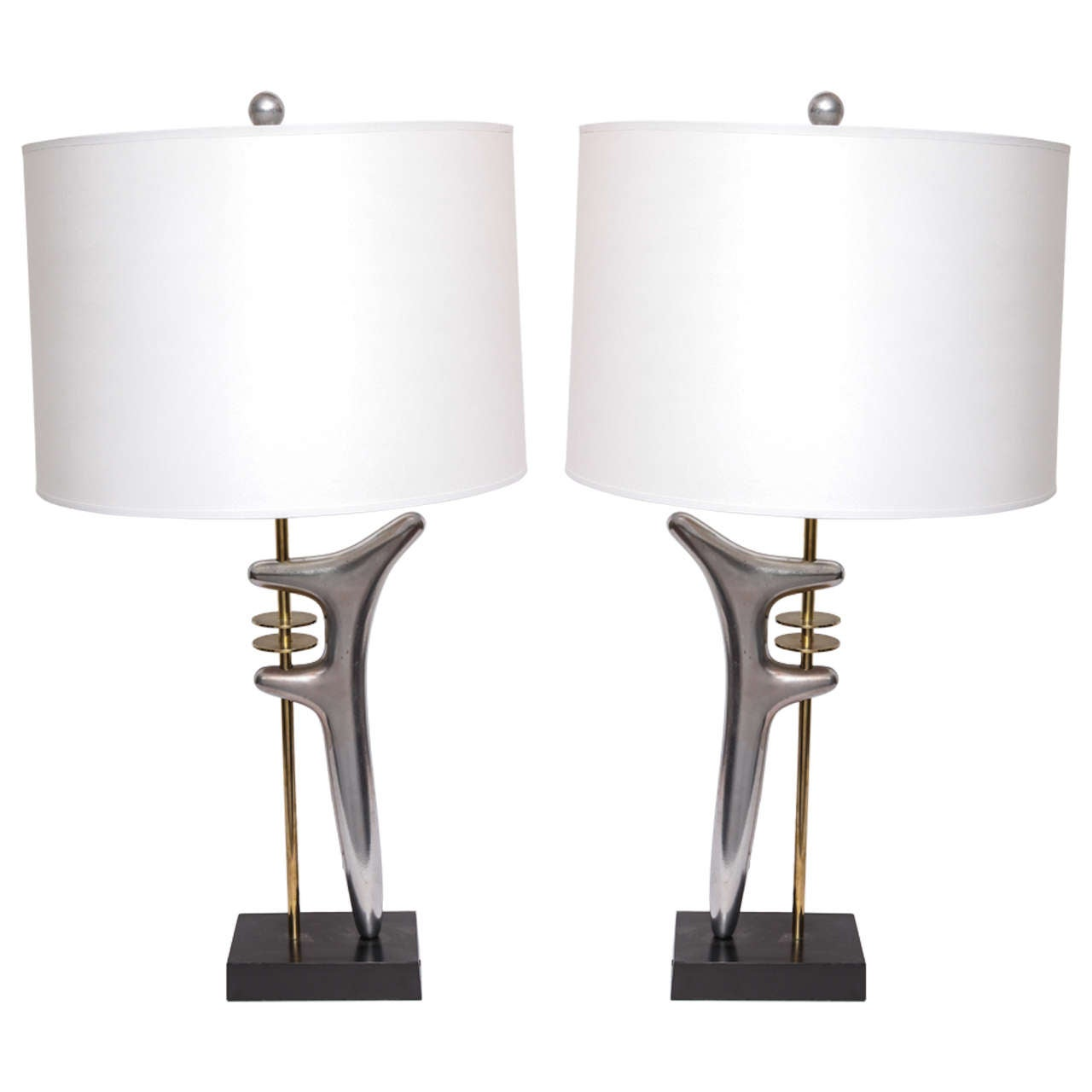Pair of 1950s sculptural table lamps attributed to isamu noguchi pair of 1950s sculptural table lamps attributed to isamu noguchi 1 geotapseo Choice Image