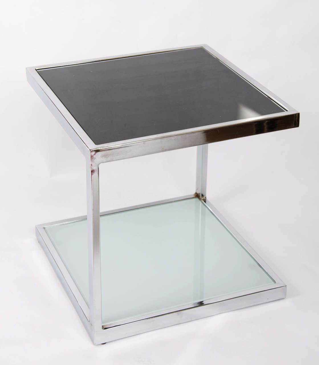 Two Pairs of 1950s Chrome Side Tables For Sale 1
