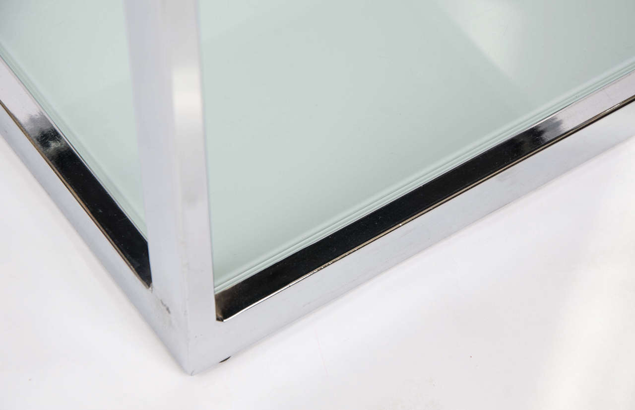 Two Pairs of 1950s Chrome Side Tables For Sale 2