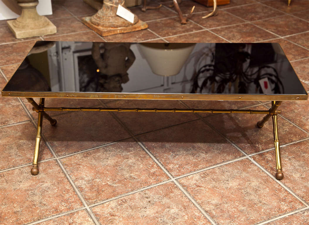 Bagues Bronze Faux Bamboo Coffee Table At 1stdibs