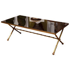 Bagues Bronze Faux Bamboo Coffee Table
