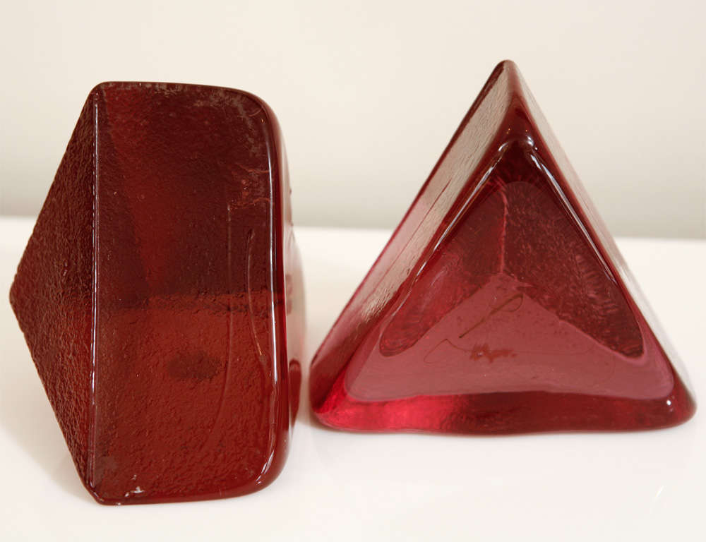 Glass Assortment Of Mid-Century Bookends For Sale