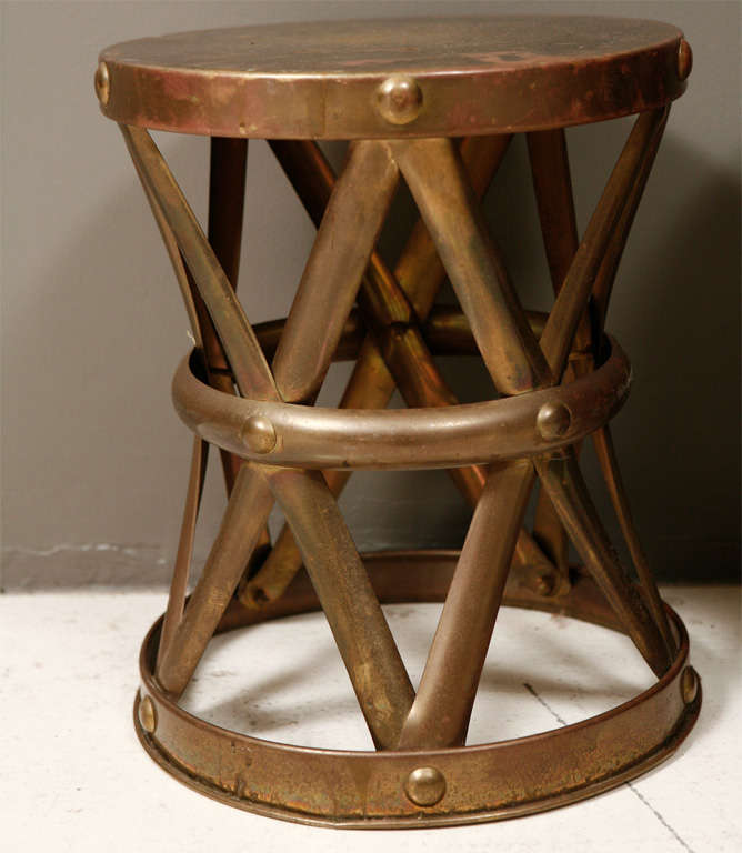 Brass Drum Tables For Sale 2