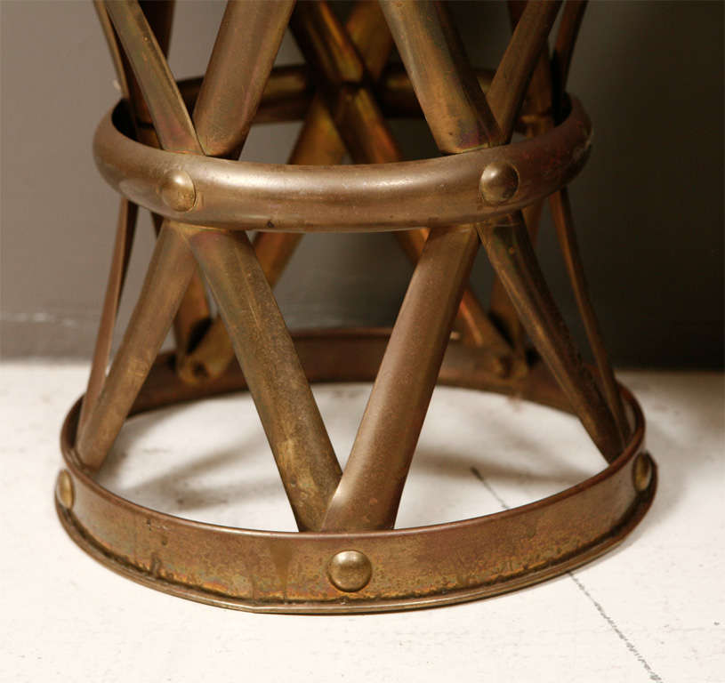 Brass Drum Tables For Sale 4
