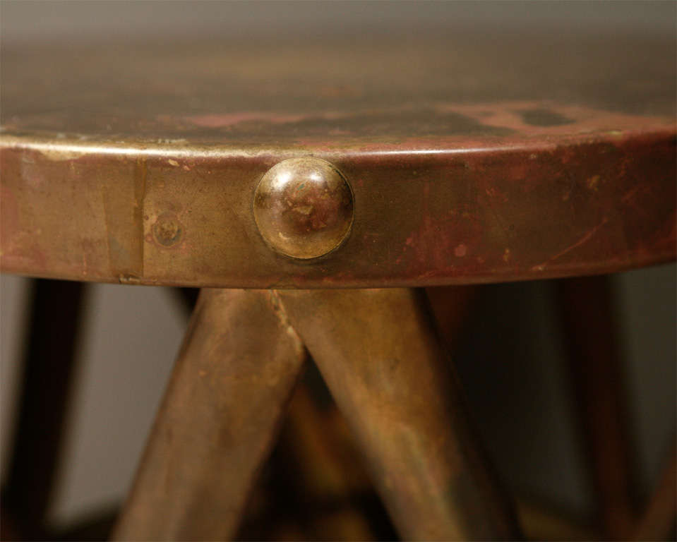 Brass Drum Tables For Sale 5