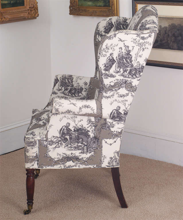 Federal Wing Chair, New York, circa 1800 For Sale 2