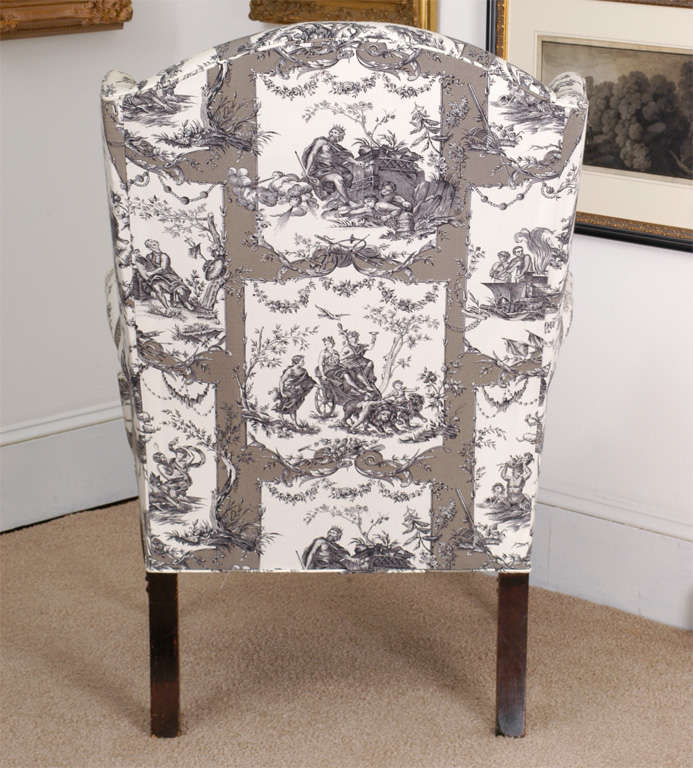 Federal Wing Chair, New York, circa 1800 For Sale 3