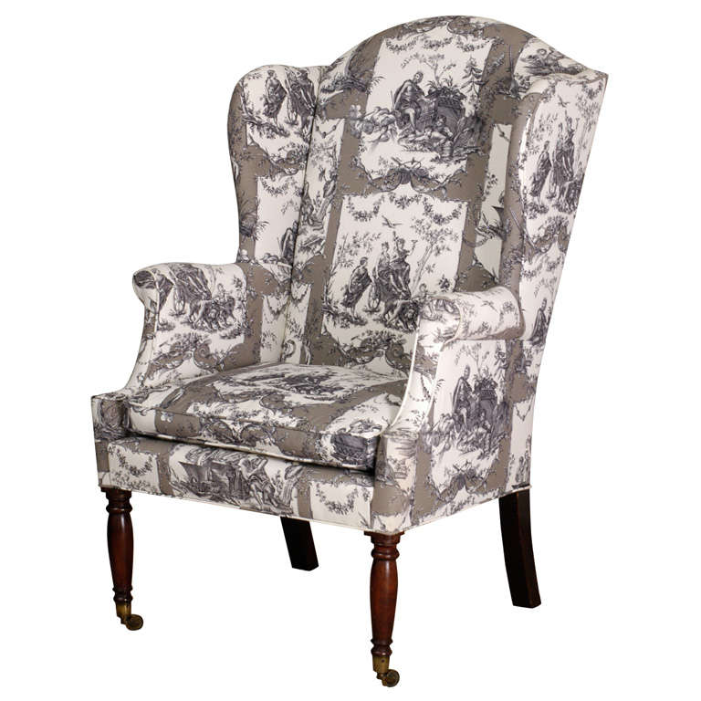Federal Wing Chair, New York, circa 1800 For Sale