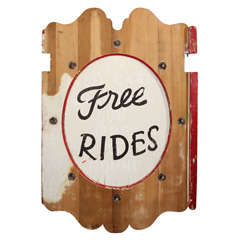 "Carnival Sign ""Free Rides"""