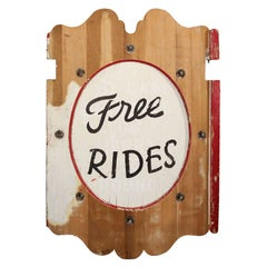 """Carnival Sign """"Free Rides"""""""