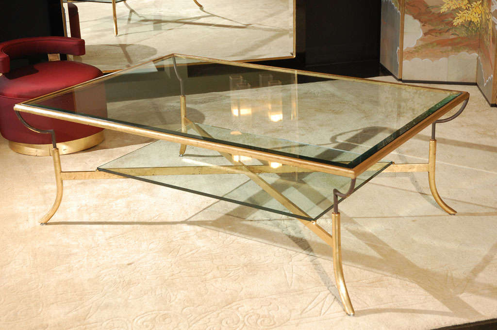 Tier Gold Leaf Coffee Table At 1stdibs