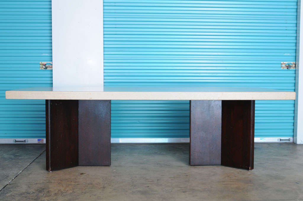 dining room furniture cork | Paul Frankl Cork Top Dining Table at 1stdibs