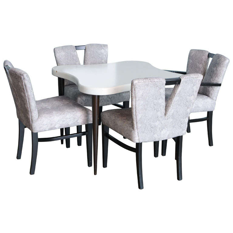 Paul Frankl Game Table and 4 chairs at 1stdibs : x from 1stdibs.com size 768 x 768 jpeg 37kB