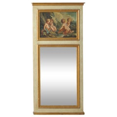 19th Century Trumeau with Early O/C Classical Painting