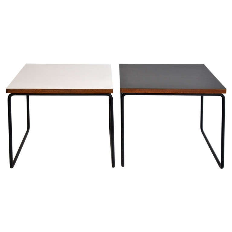 side tables by pierre guariche for steiner at 1stdibs. Black Bedroom Furniture Sets. Home Design Ideas