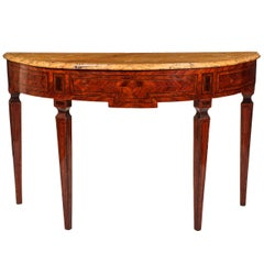 Fine Italian 18th Century Marquetry Console Table