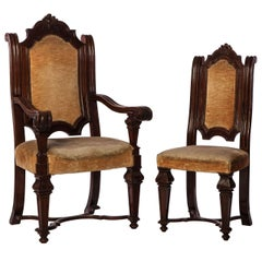 A Set of Italian 6 Chairs And 2 Armchairs