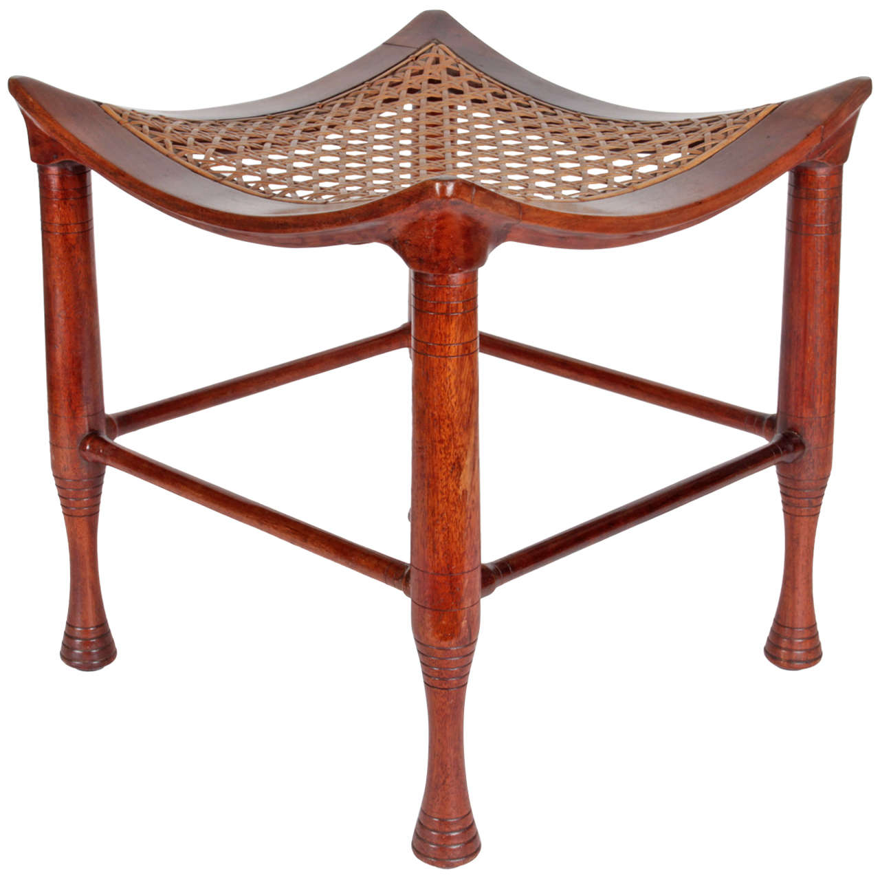 Ancient egyptian table - Leonard Wyburd Egyptian Revival Four Legged Mahogany Thebes Stool Circa