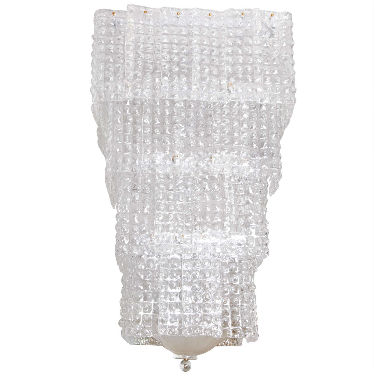 Chandelier In Murano Glass Square Form For Sale At 1stdibs