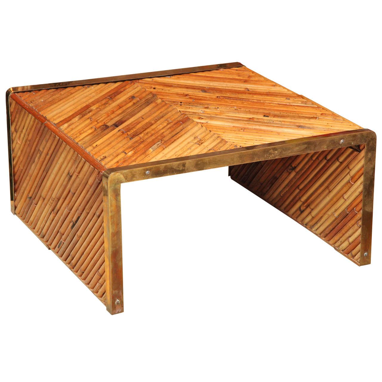 Gabriella Crespi Bamboo Coffee Table At 1stdibs
