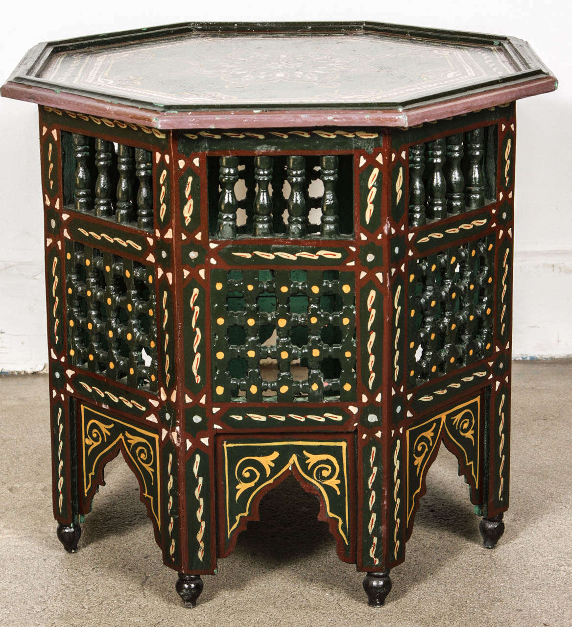Colorful Side Table Game Room End Table