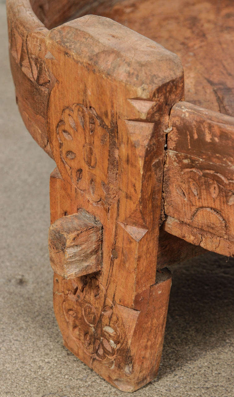 Moroccan Wooden Tribal Table At 1stdibs