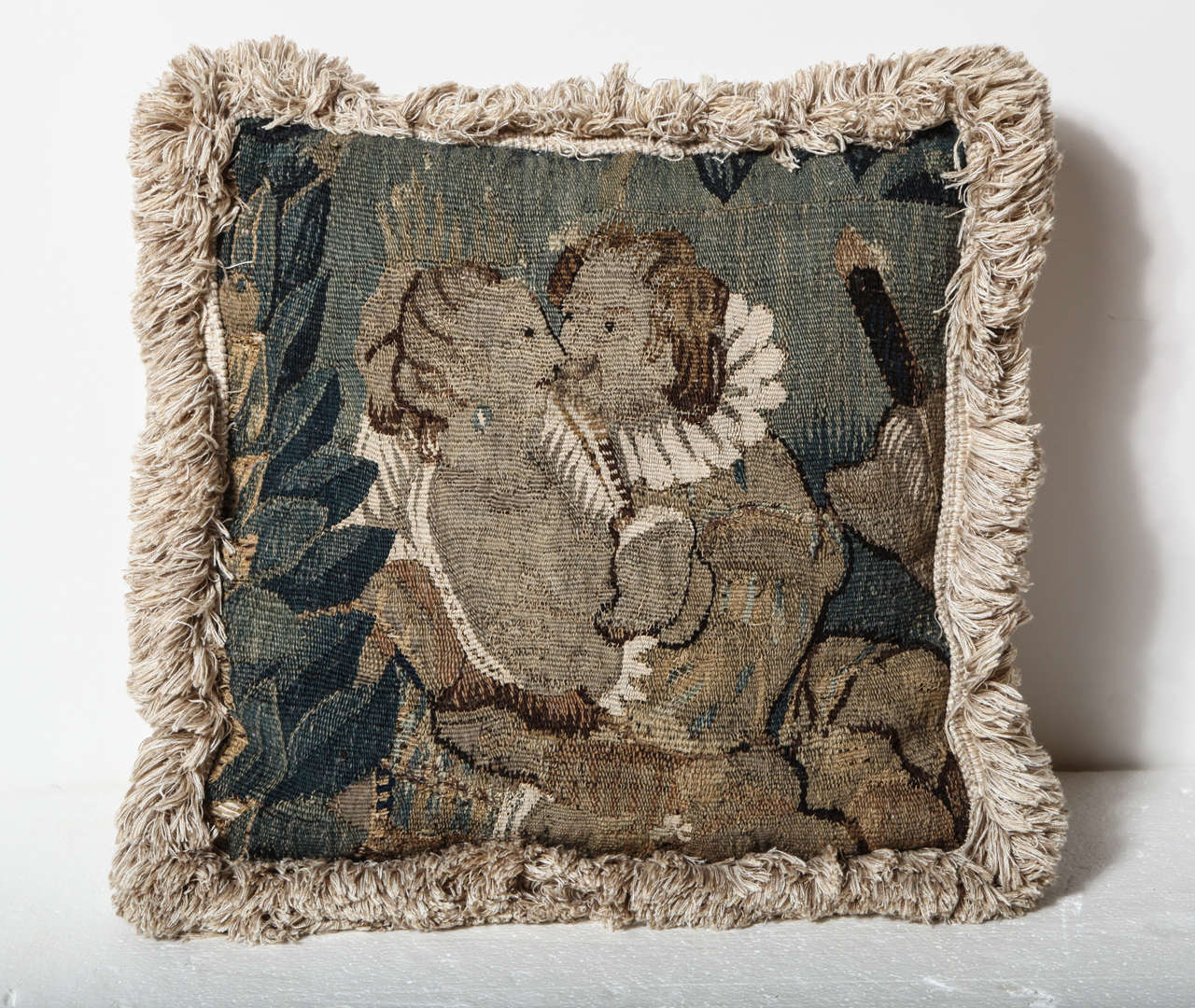 18th Century French, Tapestry Fragment Pillow