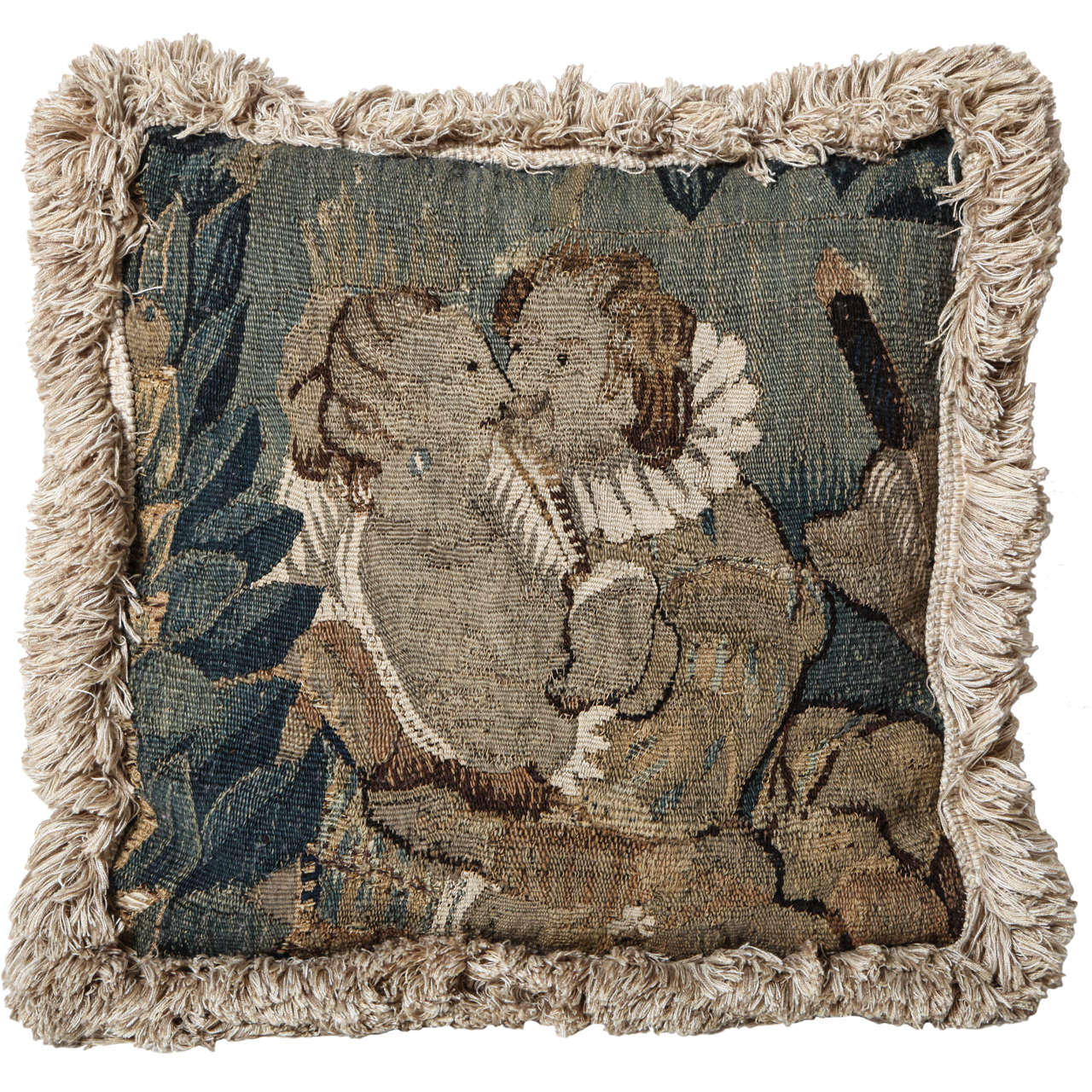 18th Century French, Tapestry Fragment Cushion
