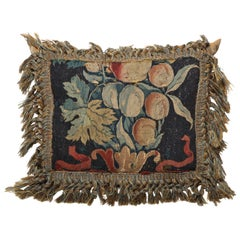 18th Century Brussels Tapestry Fragment Cushion