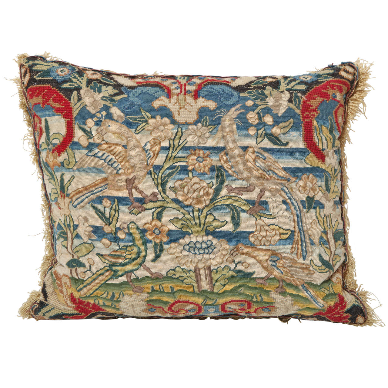 18th Century Tapestry Fragment Made into a Cushion
